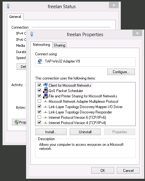 Installing Freelan on Windows Server 2012 - Bit Armory Blog